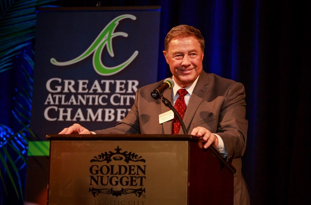Joe Kelly received a retirement party from the Greater Atlantic City Chamber